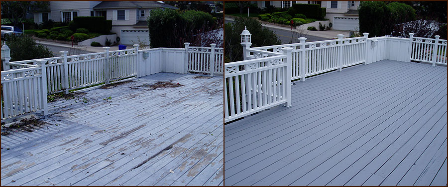 Paint deck home drywall and painting for Painted deck pictures